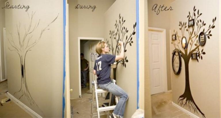 Как нарисовать дерево на стену своими руками