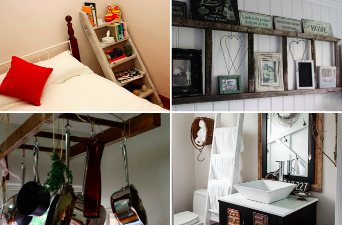 10 Beautiful Ideas To Recycle Or Repurpose Vintage Wooden Ladders
