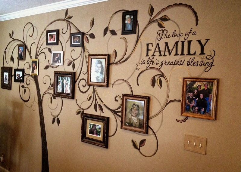 30 Ideas To Make A Magnificent Decorative Family Tree On A Wall Or