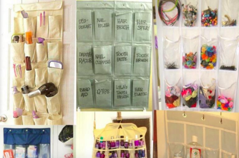 Storage Ideas using shoe organisers - Creatistic